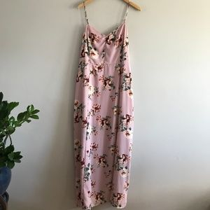Nordstrom Leith Maxi Dress Pink Floral XXL